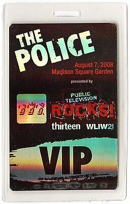 The Police authentic 2008 Laminated Backstage Pass Reunion Tour Sting MSG
