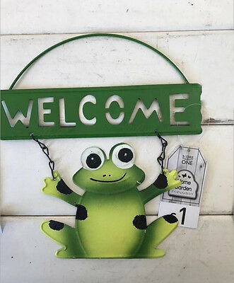 Cast Iron WELCOME Sign With Frog