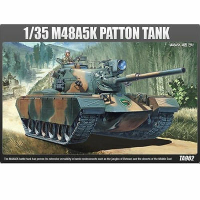 NEW ACADEMY 1/35 Plastic Model Kit M48A5K PATTON TANK #13245