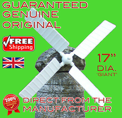 """WINDMILL BLADES/SAILS for WINDMILL GARDEN ORNAMENT. 17"""". Includes Delivery."""
