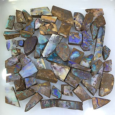 Australian Boulder Opal LAPIDARY ROUGH Hobby quality parcel by Smart Opals