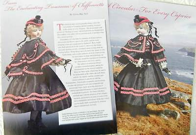 Antique Circular Cape Uncut Pattern & Article to fit French Chiffonette Doll