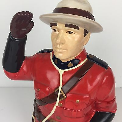 "Royal Canadian Mounted Police Mountie 13"" Cookie Jar RCMP Hard to Find"