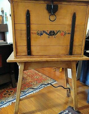Monterey vintage drop front desk. Classic period rare Straw Ivory Price reduced!