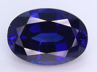 7.72ctw. Blue LAB CREATED Sapphire corundum Oval cut 14x10mm. loose gemstones.