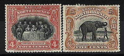 Northern Rhodesia SG# 54 and 55, Mint Hinged, Hinge Remnant -  Lot 022617