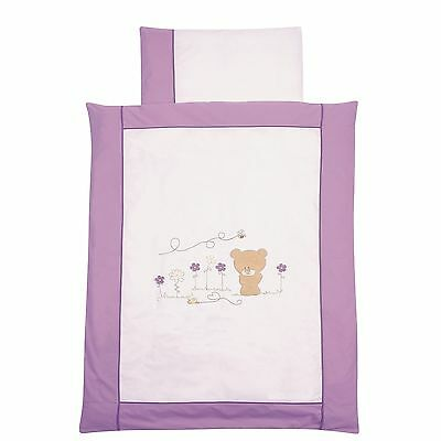 Easy-Baby Bettwäsche 80x80 / 35x40 cm  Honey bear lila 415-40