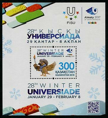 Kazakhstan 2016 28th World Winter Universiade, Almaty MNH**