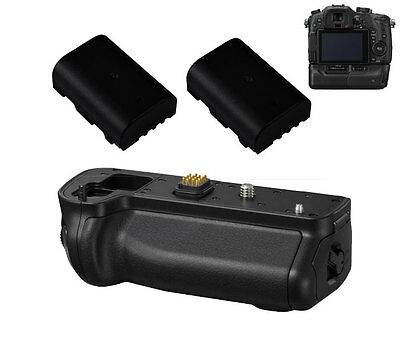 Powerful Battery Grip for Panasonic Lumix DMC-GH3 GH4 +2pcs 2200mA Battery Pack