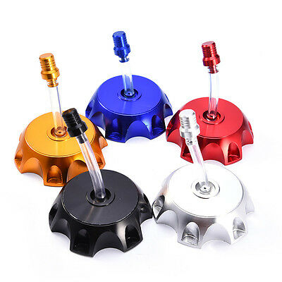 CNC Alloy andodised Fuel Petrol Tank Cap Breather for Pipe Pit Dirt Quad Bike