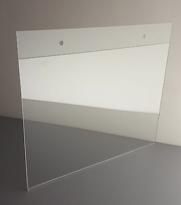 25 Pack Acrylic 11 X 8.5 Horizontal Wall Mount Sign Holders