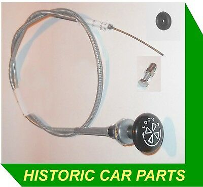 MG MIDGET Mk1 RHD 1098cc 1964–66 - CHOKE CABLE, FIXING & GROMMET