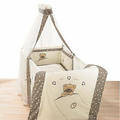 Alvi Himmelset/Bettset mit Applikation Little Bear beige 562-6