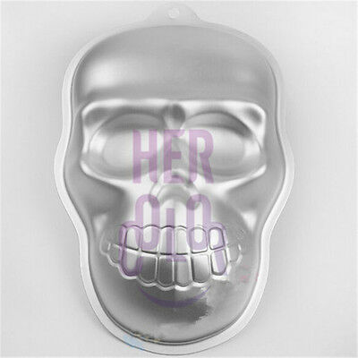 New Metal Skull Cake Cookie Jelly Tin Pan Halloween Mold Mould Kitchen Craft Hot