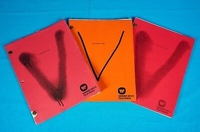 V VISITORS 1983 FINAL BATTLE SCRIPTS rare SET (3) production used prop COA