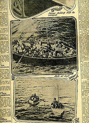 April 25, 1912 RMS TITANIC LIFEBOATS The Los Angeles Times Original Newspaper