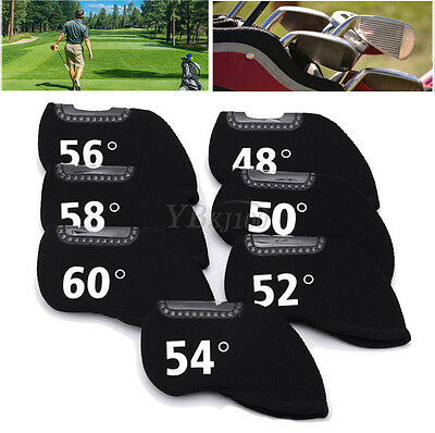 Golf Club Training Iron Head Neoprene Cover Case Pocket Set Outdoor Sporting