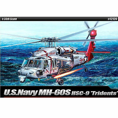 NEW ACADEMY 1/35 Plastic Model Kit US Navy MH-60S HSC-9 TRIDENTS #12120