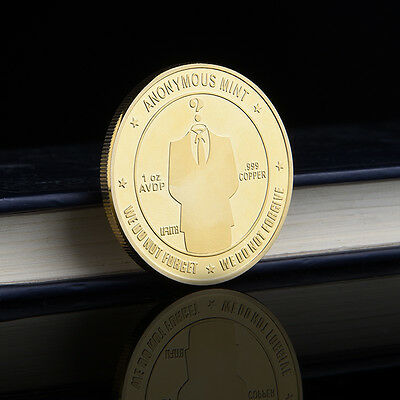 United States Anonymous Hacker Identity Gold-Plated Commemorative Coins