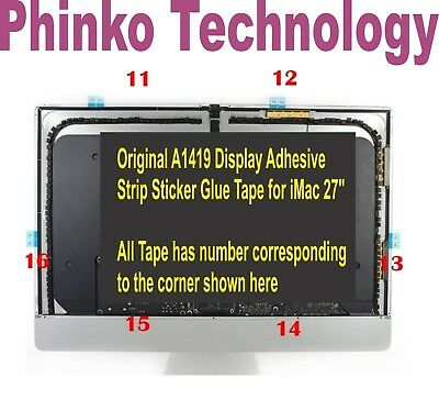 "1x set 27"" Apple iMac A1419 LCD Screen Adhesive  Stickers Tape 946-4547 946-4552"
