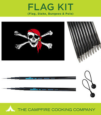 Festival flag and telescopic flag pole kit