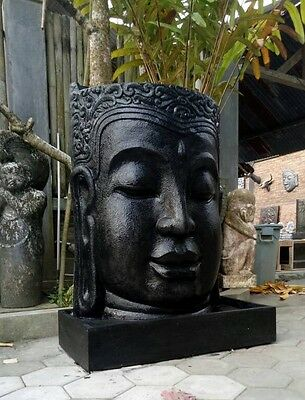 LARGE BUDDHA HEAD WATER FEATURES - 1.0M H x 80CM W X 60CM D