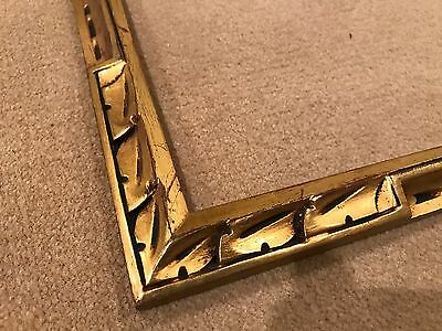 Antique 20x16 Newcomb Macklin Style Gold Leaf Arts & Crafts Picture Frame
