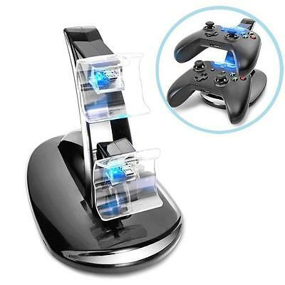NEW DUAL USB CHARGER DOCKING STATION CHARGING STAND FR XBOX ONE CONTROLLER awy
