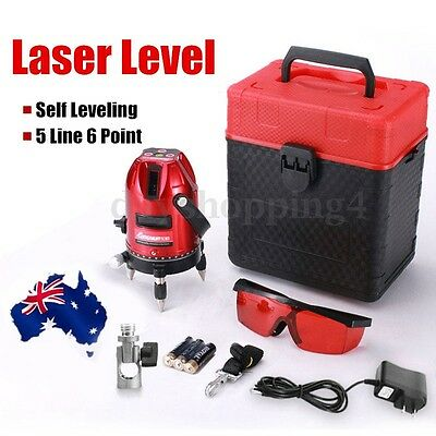 5 Line 6 Point 4V1H Laser Level Professional Automatic Self Measure Leveling AU