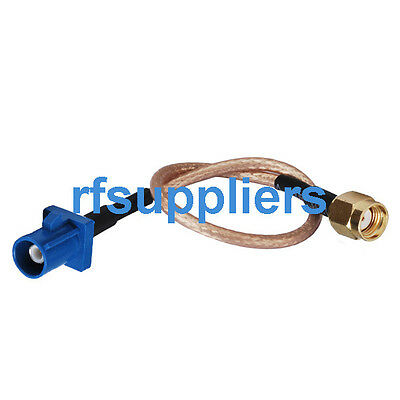 """Fakra male C to RP-SMA male RF jumper Cable RG316 15cm 6"""""""