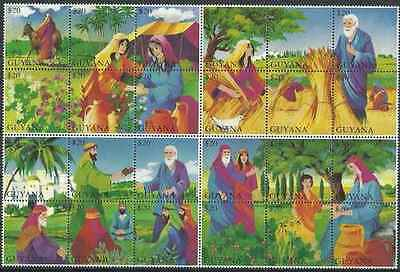 Timbres Religion Guyana 3320/43 ** année 1994 lot 20891