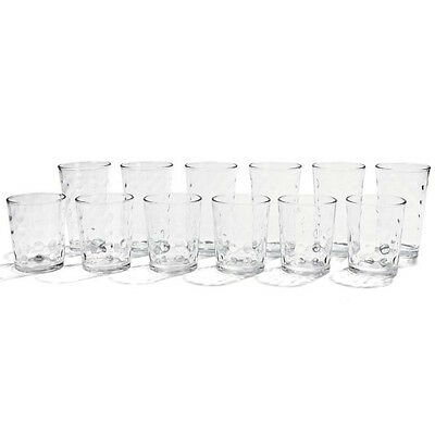 12 Piece Glasses Spot Drinking Glass Cup Water Clear Glassware Juice Set Party