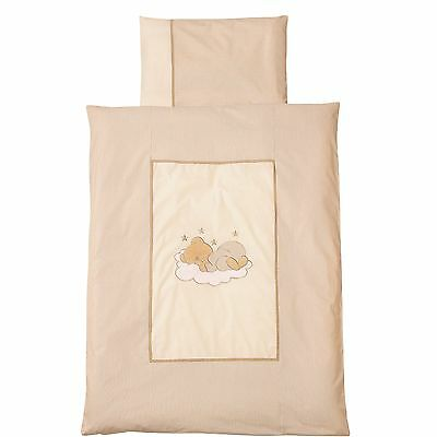 Easy-Baby Bettwäsche 80x80 / 35x40 cm  Sleeping bear natur 415-83