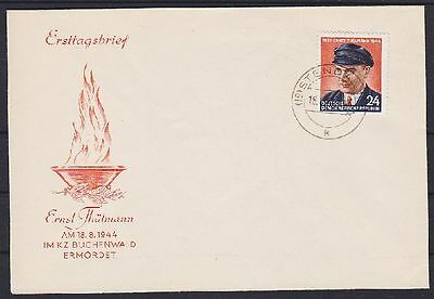 DDR FDC 432 mit Tagesstempel Stendal 18.08.1954, first day cover
