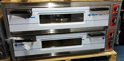 6x6 Commercial Double Deck Electric Pizza Oven