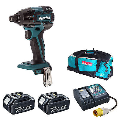MAKITA DTD129 IMPACT DRIVER 2 BL1840 BATTERIES DC18RC 110v CHARGER LXT600 BAG