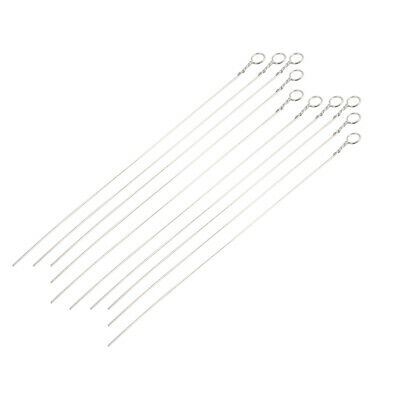10Pcs Ni-Cr Alloy 2mm Dia Inoculating Loop for Lab Microbiology Tissue Culture
