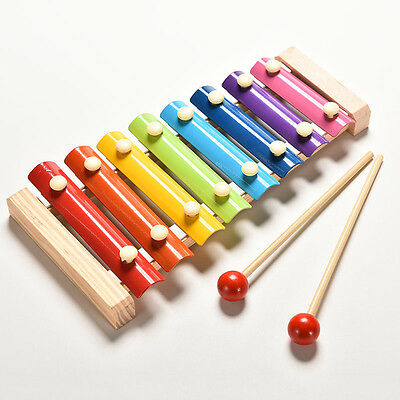 Baby Kid Educational 8 tone Xylophone Musical Toys Wooden Developmental Toy hcuk