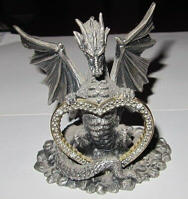 Myth And Magic - Dragon Of The Heart Figure By Tudor Mint