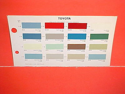 1966 1967 1968 Toyota Corona Coupe Crown Sedan Wagon Land Cruiser Paint Chips