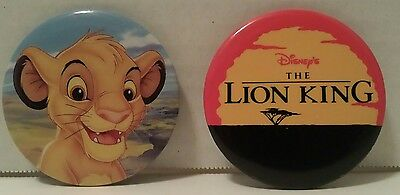 THE LION KING Pin Back BUTTONS LOT OF 2: SIMBA Disney TRENDS