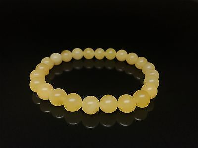 Yellow color Baltic Amber bracelet (8.4 g.)
