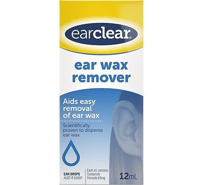 EarClear Ear Wax Remover 12mL Ear Clear carbamide peroxide 65mg/mL