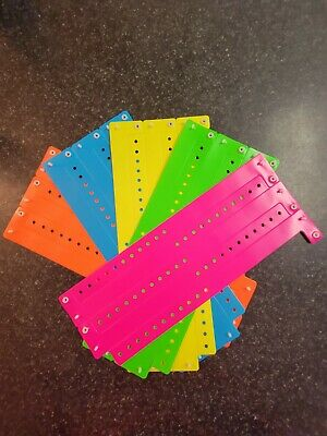 "100  3/4""  Assorted Neon Plastic/ Vinyl Wristbands, Wristbands For Events,"