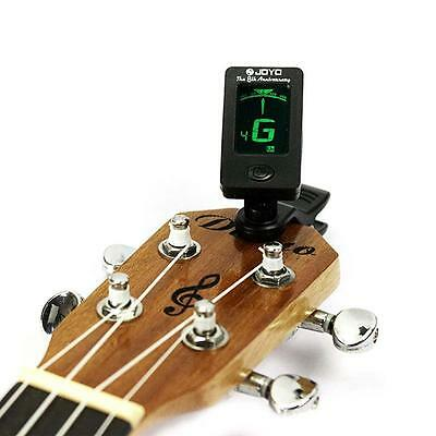 Clip-on LCD Digital Chromatic Electronic Guitar Tuner Bass Violin Ukulele D15 aw
