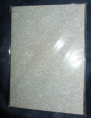 2 x Glitter Card Sheets - A4 250gsm Quality Card - Sparkling Silver