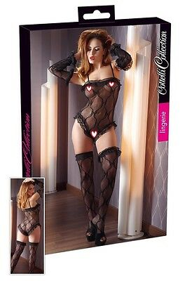 Completo intimo in pizzo nero Cottelli Sexy shop toy intimo lingerie donna eros