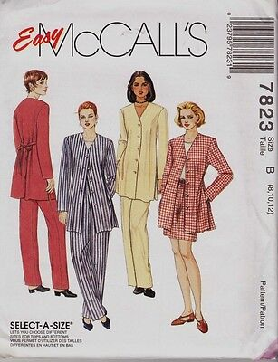 ~UNCUT McCall's 7823 Sewing Pattern Jacket, Top, Pull-On Pants & Shorts  8-12~