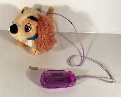 """6"""" Wired Remote Control Walking Lady And The Tramp Dog Soft Toy"""