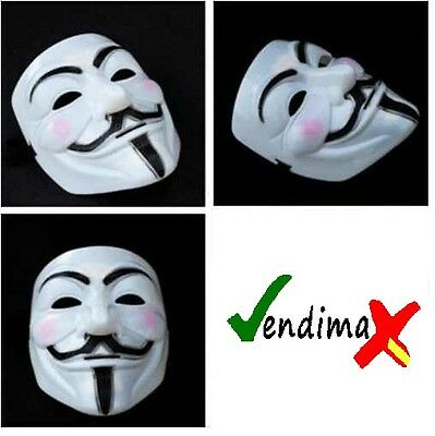 MASCARA V VENDETTA VENDETA Careta Movimiento 15-M Anonymous Indignados